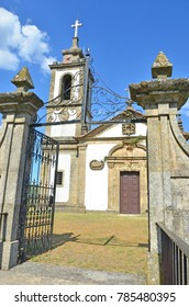 The entrance gateway to a typical Portuguese Catholic Church