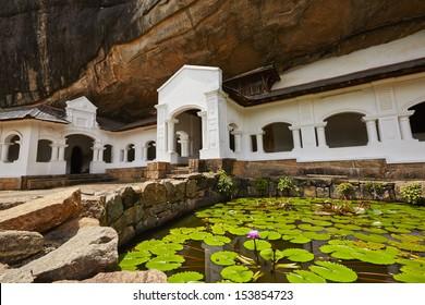 Entrance to Golden Temple of Dambulla - Sri Lanka