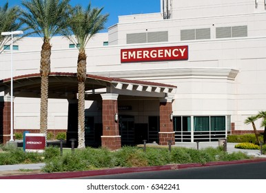 Entrance of a hospital emergency room