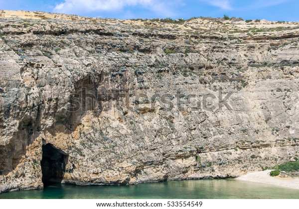 entrance of Inland Sea dive site in malta