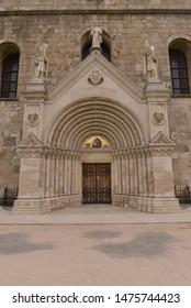 Entrance into old historical monastery church.