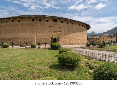 Entrance into the Tulou at Unesco heritage site near Xiamen