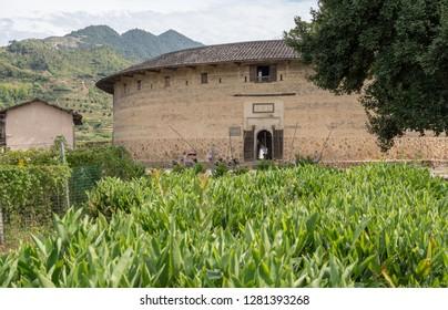 Entrance into the Tulou at Unesco heritage site near Xiamen