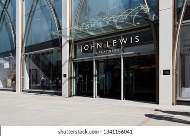 Entrance of John Lewis in Cheltenham High Street. March 20129