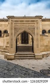 Entrance to Juma Mosque in Baku city