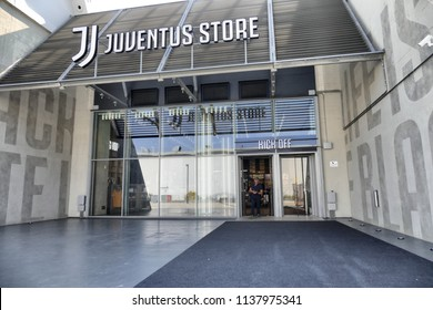 The entrance of Juventus store near the Allianz stadium Turin Italy July 19 2018