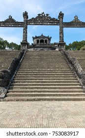 Entrance to Khai Dinh Tomb. Khai Dinh was  emperor of Vietnam for the period 1916-1925 during the Nguyen Dynasty. The tomb is located outside of Hue, the previous capital of Vietnam.