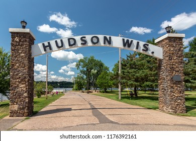 Entrance to Lakefront Park in Hudson, Wisconsin, USA