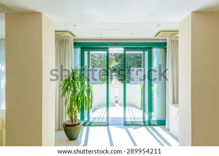 Entrance Of A Large Luxury Dining Room Interior New Empty Hotel Or Home Space