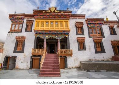 Entrance to Likir Gompa Monastery in Ladakh, India