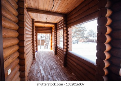 entrance to the log house