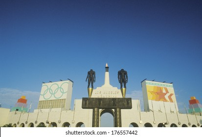 Entrance to Los Angeles Memorial Coliseum, Los Angeles, California