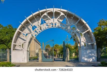 Entrance to Louis Armstrong Park - New Orleans, LA