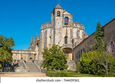 Entrance and main Church in the Convent of Christ (Convento de Cristo). Tomar, Ribatejo, Portugal
