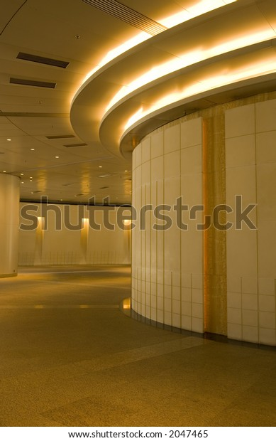 Entrance to a mall or an office building.