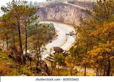 Entrance to The Mount Of Heaven's Navel: Lum Sohpet Bneng, Shillong, East Khasi Hills District, Meghalaya India.