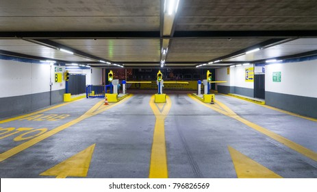 Entrance to multi-storey underground car parking garage