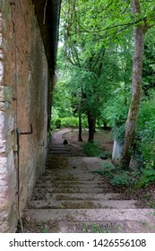 Entrance to the mysterious public park of the Steinfeld Abbey, Germany