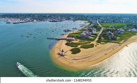 The entrance of Nantucket, Massachusetts.