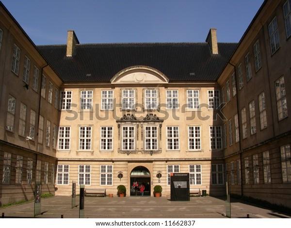 Entrance to The National Museum of Denmark in the center of Copenhagen