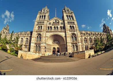 Entrance of the Natural History Museum, London, UK.