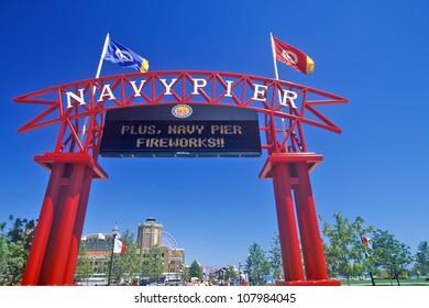 Entrance to Navy Pier, Chicago, Illinois