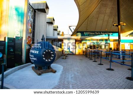 Entrance New York Aquarium Coney Island Brooklyn Stock Photo Edit