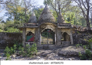 The entrance to now abandoned Maharishi Mahesh Yogi Ashram - Beatles Ashram in Rishikesh.