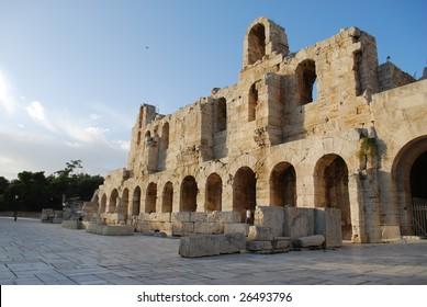 Entrance to Odeon of Herodes Atticus, Acropolis, Athens, Greece