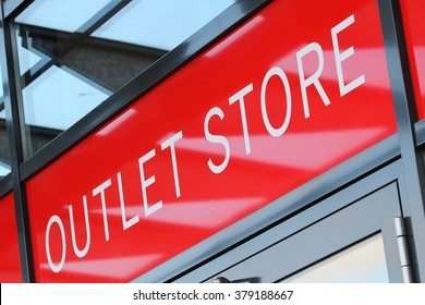 entrance of an outlet store