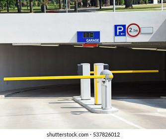 Entrance of the parking garage