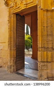 Entrance to the patio of the Mosque of Cordoba, Andalusia, Spain