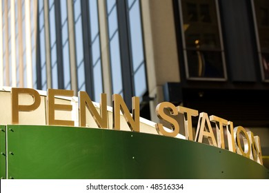Entrance to Penn Station near Madison Square garden, NYC