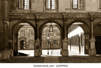 Entrance of Peterhouse, a college of Cambridge University, England