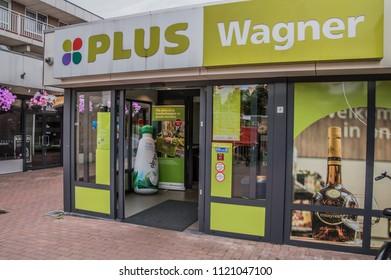 Entrance At The Plus Wagner Supermarket At Duivendrecht The Netherlands 2018