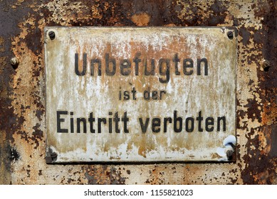 entrance prohibited for unauthorized persons
