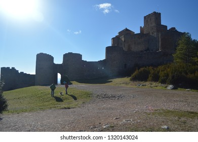 Entrance To The Roman Castle Of Loarre Dating From The 11th Century It Was Built By King Sancho III In Loarre Village. Landscapes, Nature, History. December 28, 2014. Riglos, Huesca, Spain.