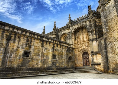 Entrance of the Round Templar Church of the Convent of Christ, Tomar, Portugal