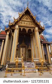 Entrance to the Royal Pantheon at Wat Phra Kaew, Bangkok, Thailand.