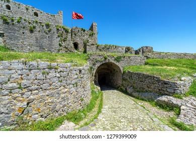 Entrance to Rozafa Castle in Shkoder, Albania