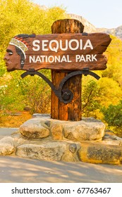 Entrance of the Sequoia National Park in California