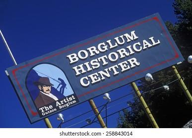 Entrance sign to Borglum Historical Center, Keystone, SD