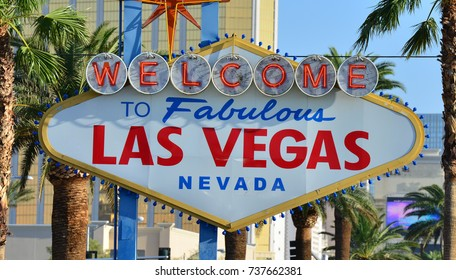 The entrance sign to Las Vegas, Nevada.