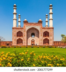 The entrance to the Sikandra monument in Agra, where Akbar the Great is buried.