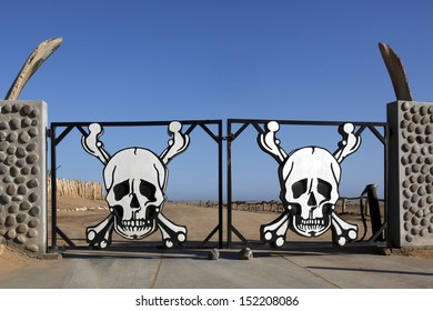 Entrance to the Skeleton Coast National Park in the Namib-Naukluft Desert in Namibia