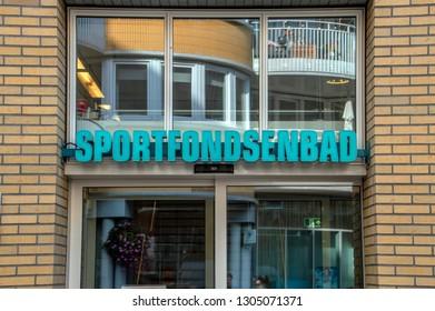 Entrance Of The Sportfondsenbad Swimming Pool At Amsterdam The Netherlands 2018
