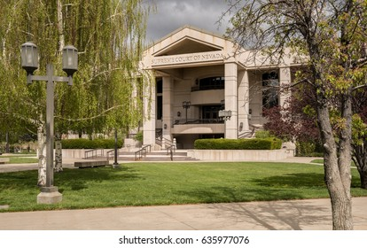 Entrance to the State Supreme Court of Nevada in Carson City