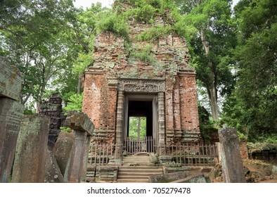 Entrance of Temple of Koh Ker Preah Vihear Province, Cambodia