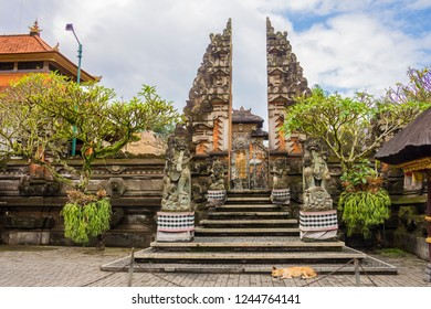 Entrance to a temple in Ubud, Bali, Indonesia.