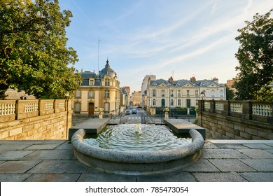 Entrance of thabor park, Rennes city, Brittany, France